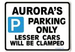 AURORA'S Personalised Parking Sign Gift | Unique Car Present for Her |  Size Large - Metal faced